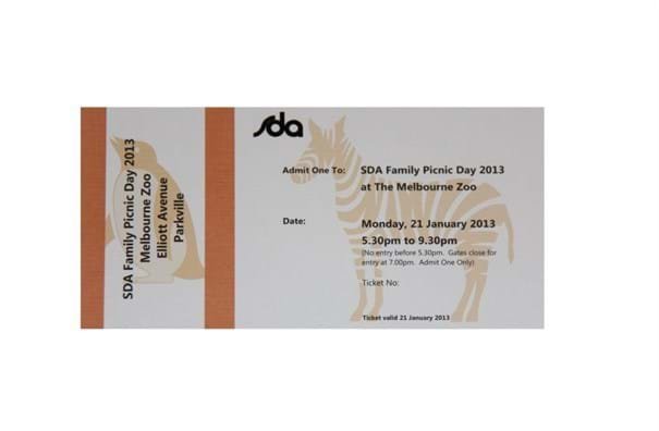 corporate event ticket printing