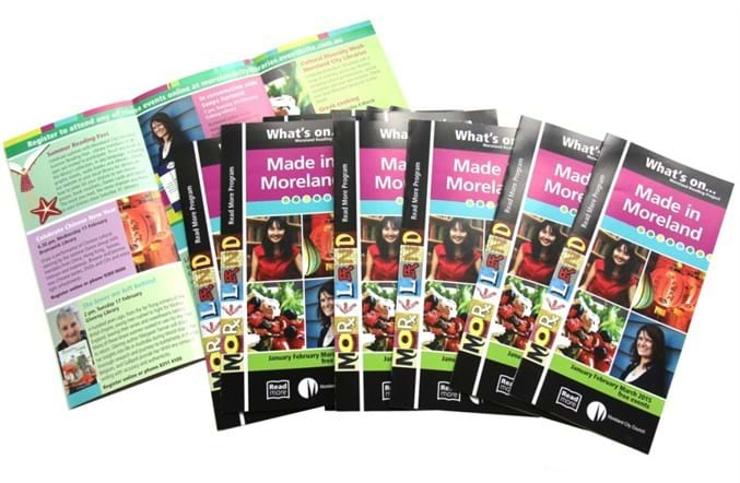 colourful brochures