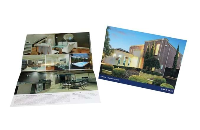 glossy brochures real estate