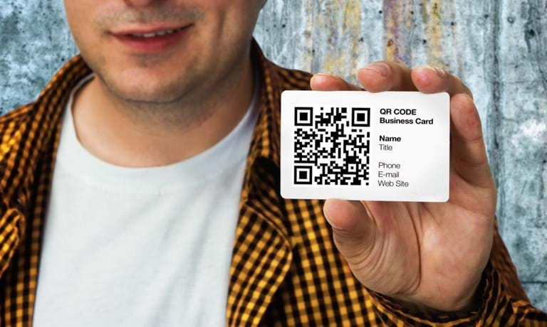 qr code business cards, print QR codes